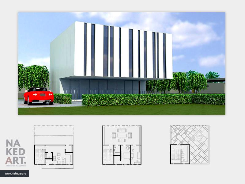 Архитектурный проект загородного дома пример