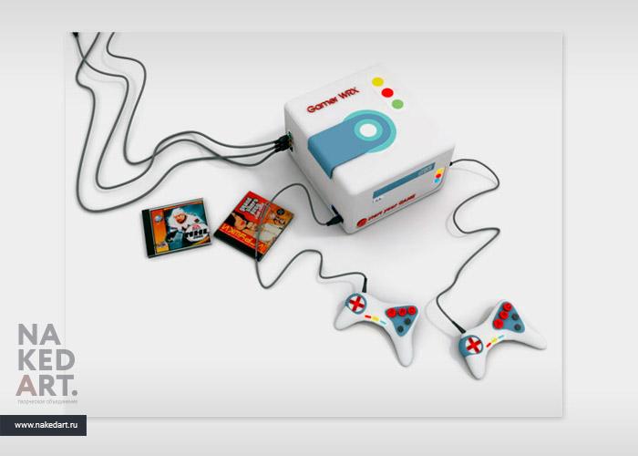 3D-модель игровой приставки Net Fight Zone пример