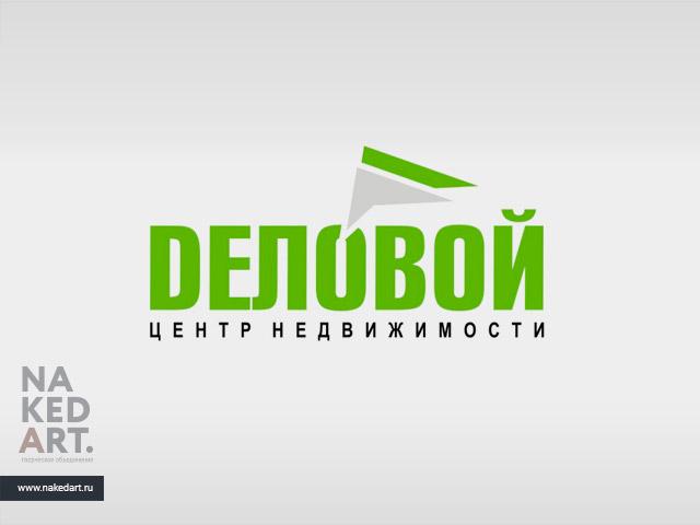 Логотип агентства «Деловой Центр Недвижимости» пример