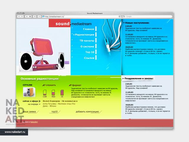 Проект медиа-сервера «Sityline.Mediastream» пример